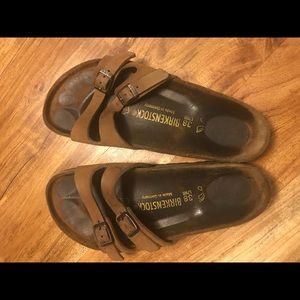 Birkenstock Tan Sandals (size 38)